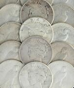 1922 - 1926 Silver Peace Dollar Cull Lot 100 S1 Coins Vg - Au Cleaned Scratched