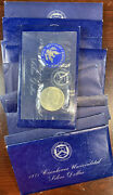 Lot Of 11x 1971 S 40 Silver Bu Eisenhower Dollars In Blue Envelopes And Plastic