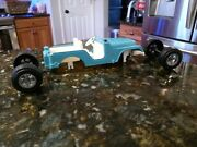 Vintage Hubley Jeep Toys Aqua Blue And White For Parts Only Damaged 1710