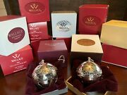 Vintage Wallace Silver Sleigh Bell Christmas Ornaments - 1971-2020 - Silver Ball