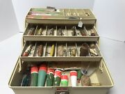 Well Loved Vintage Tackle Box Wooden Lures Smithwicks