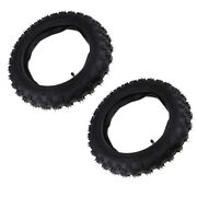 2 Pieces Black 2.50-10 2.50x10 Rubber Tires U0026 Tube Set For Crf50