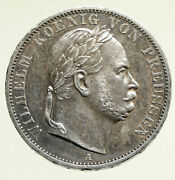 1866a Germany German States Prussia Wilhelm I Defeated France Silver Coin I95215