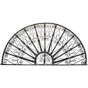 Antique French Colonial Wrought Iron Arched Transom C. 1880
