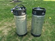 Two Canisters Coca Cola Soda Fountain Machine Syrup Tanks, Wine Beer Dispenser