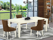 5pc Dining Set Includes A Rectangle Dining Table With Butterfly Leaf And Four Pa
