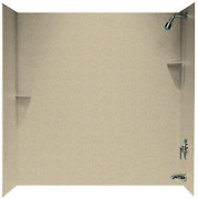 Swanstone Ss00603.122 Solid Surface Glue-up 3-panel Bathtub Wall Kit 30-in L X