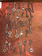 Lot Of 30 Real Antique Skeleton Keys - Various Sizes And Styles