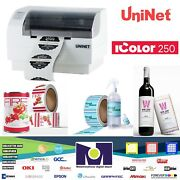 Icolor 250 Inkjet Color Label Printer And Cutter By Uninet