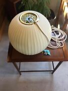 New George Nelson Bubble Lamp Howard Mirror With Tag White Color Mid Century