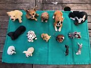 Stone Critters And Misc Figurines Lot Of 14 Perfect Condition Dog Dog Puppies
