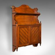 Antique Wall Mounted Cabinet English Mahogany Hanging Whatnot Victorian