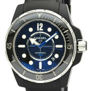 Polished J12 Marine 42 Ceramic Rubber Automatic Mens Watch H2558 Bf534545