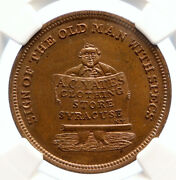 1850and039s United States Syracuse New York Old Littman Antique Medal Ngc I95564