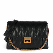 Givenchy Black Quilted Goatskin Leather Medium Gv3 Cb377