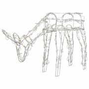 Northlight 42-inch Lighted White Feeding Reindeer Outdoor Christmas Decoration