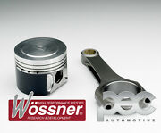High Comp Wossner Forged Pistons + Pec Steel Rods For Vw Vr6 2.8 2.9 12v