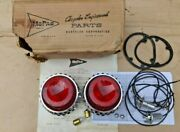 Nos 1962 Plymouth Fury Tail Light Package Original Mopar Pair Inside Or Middle