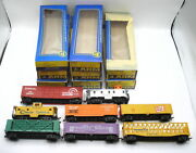 Ho Lot 8 Nice Ahm Freight Cars, Helium And Container Carriers, Conrail Boxcar And