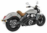 Freedom Radical Radius High 2-into-2 Exhaust For Indian Scout 2015-2020 Black