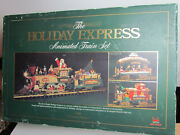 G Scale New Bright Holiday Express Animated Train Set Works But Missing Pieces