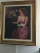 Paintings On Canvas Framed Large Gilecee - Lady On Pianoandnbsp