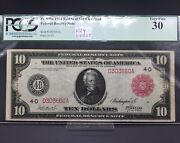 Extremely Rare Fr.895a 1914 Red Seal 10 Cleveland Note- Key District High Value