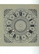 Vintage Montgomery Ward Metal Clock Dial Face Square 31 Day