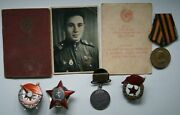 Soviet Ultra Rare Order Of The Red Banner- Mirror Reverse - With The Document