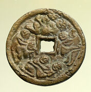 6-900ad Chinese Song Dynasty Man And Woman Embrace Cash Token Coin Of China I95278