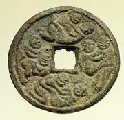 6-900ad Chinese Song Dynasty Man And Woman Embrace Cash Token Coin Of China I95279