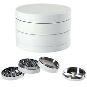 2.5and039and039 Tobacco Herb Grinder 4 Piece Metal Alloy Spice Herbal Smoke Crusher Miller