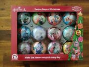 Hallmark Rudolph 12 Twelve Days Of Christmas Ornament / Candy Container Set