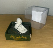Snowbabies Hold On Tight Bisque Porcelain Hinged Box Figurine Retired Dept. 56