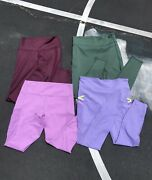 Fabletics Leggings 3x Lot Of Motion365 / 1x Powerhold 1x Aerie Xl Colorful Green