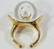 Steuben 14k Gold Champagne Collection Ring Phyllis Mcguire Sisters Estate Size 5