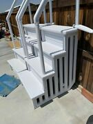 1 Heavy-duty Above Ground Swimming Pool Ladder Stair Entry System