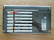 Koh-i-noor Rapidograph Technical Drawing 7 Pens Set. -3165-sp7p-excellent Cond