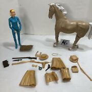 Marx Johnny West Horse Flame And Jane 1960s Vintage Action Figure W/ Accessories