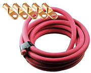 Crimp Supply Ultra-flexible Car Battery/welding Cable - 1/0 Gauge 250 Feet Red