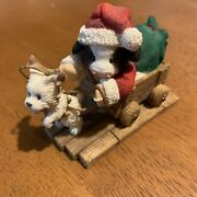 Maryand039s Moo Moos Making A Special Deerlivery Santa And Dog Sleigh Cow Christmas