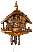German Cuckoo Clock 8-day-movement Chalet-style 23.00 Inch - Authentic Black For
