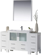 Blossom Sydney 60 Inches Single Bathroom Vanity With Double Side Cabinet Ceram