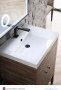 James Martin Ssp-s2418-wg White Glossy Resin Countertop 23.6 W X 18.1 D Sink