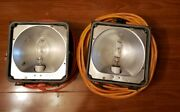 Vintage Hubbell Industrial Lamps 2 Architectural Project Working Art Collectable