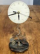 Roger Wood Hand Made Clock Time Piece Salvaged Parts Steampunk Signed No. 5776