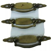 Brass Drawer Pulls Handles Antique Victorian Early American Dresser Chippendale