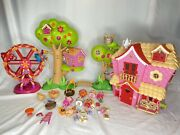 Mini Lalaloopsy Dolls Playsets Tree House House Ferris Wheel Accessories Toy Lot