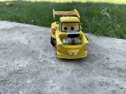 Disney Pixar Cars Die Cast 4.5 Hot Rod Tow Mater Yellow W/ Red Flames Rare Htf