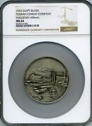 Egypt , Silver Medal King Fuad Visit Tourah Cement Factory 1933 Ngc Ms 64 , Rare
